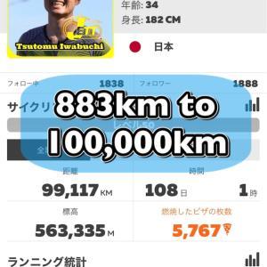 あと883km‼️