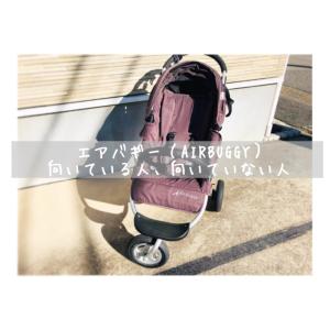 【ベビーカー選びの参考に☆】エアバギー(AIRBUGGY)の特徴。向いている人、向いていない人。