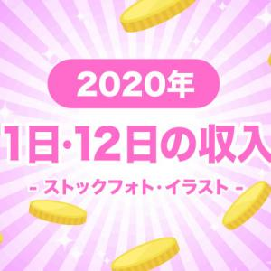 2020年1月11日・12日のストックイラストの収入報告(土日合算)