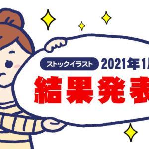 2021年1月のストックイラスト収入報告