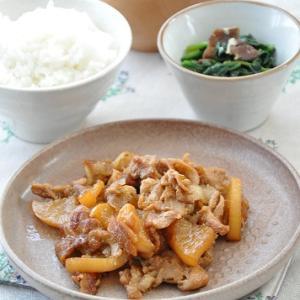 甘辛味の大根と豚肉が、すき!ごはんにも合う◎大根と豚こまの照り焼き献立