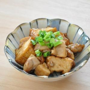 【ストックおかず】鶏肉をちょい足しで旨味アップ!厚揚げの照り焼き