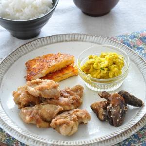 ワンプレート盛りでパパッと完成◎鶏肉のスパイシー唐揚げがメインの節約献立