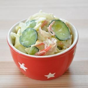 【節約おかず】たまごのカニカマのサラダ