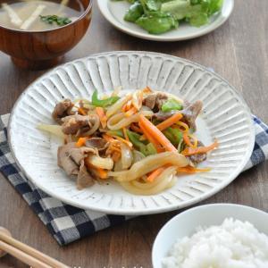安定の節約食材の組み合わせ「豚肉と野菜の甘辛炒め」献立