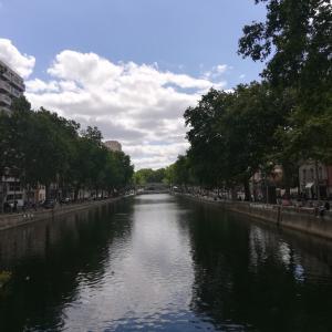 パリ サンマルタン運河周辺散策