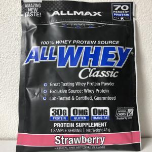 意外とイケるかも!?良くも悪くも想像どおりのクラシックなストロベリー!ALLMAX ALLWHEY Classic Strawberry