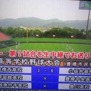 夏季愛知県高校野球大会  豊橋ケーブル[ティーズ]生中継