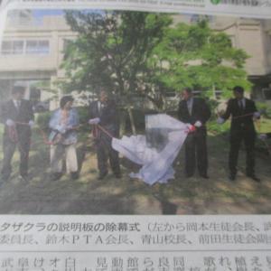 田原の成章高校 創立120周年を記念して 「オオタザクラ」の植樹