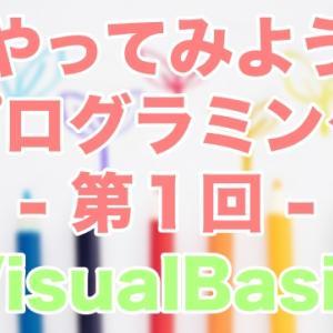 【絶対やさしい入門講座】はじめてのプログラミングをやってみよう第1回 [VisualBasic/VB2019]