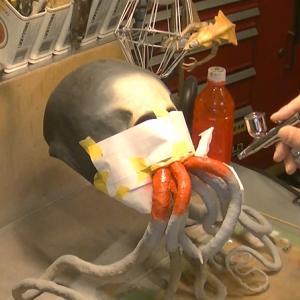 タコの足みたいな触手のあるスカルマスク【07】完成