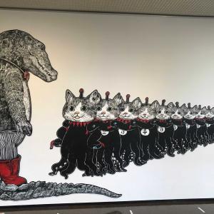 久しぶりの美術館。。ヒグチユウコ展です。