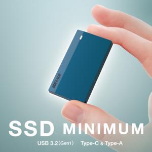 【クレジットカードよりも小さい外付けSSD】衝撃に強く持ち運びに便利!PS4のデータ保存にも対応【SSD-PSM480U3】