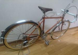 自転車は丸石エンペラーです。
