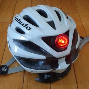 キャットアイのウェラブルミニをヘルメットに付ける