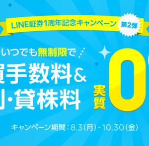 【LINE証券】1周年記念キャンペーン第2弾!