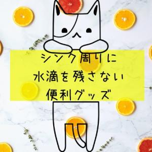 【100均】シンク周りに水滴を残さない便利グッズ