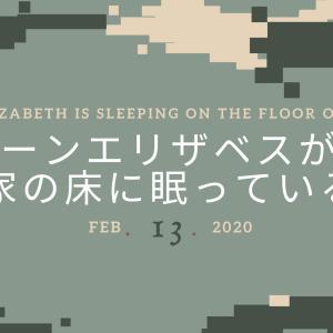 クイーンエリザベスが我が家の床に眠っている