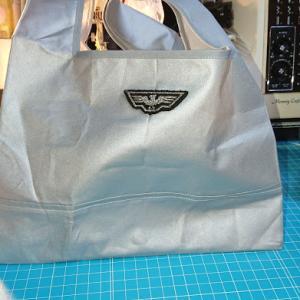 100均のアイロンカバーで作るレジ袋型エコバッグ