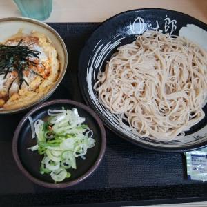 ゆで太郎の「冷たいそばとミニカツ丼」のセット