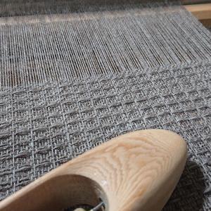 ワッフル織りのマフラー ①