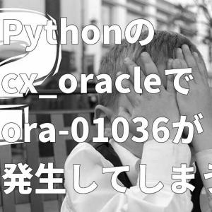Python - cx_oracle で DatabaseError ora-01036 が発生してしまう