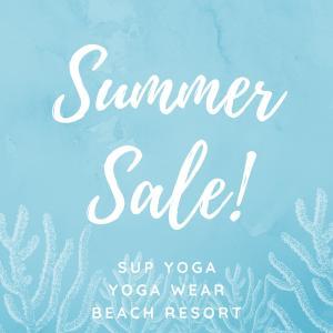 【Summer Sale!】SUP・YOGAウェア 全品50%OFF‼︎