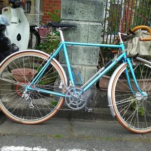 相変わらず自転車の収納方法に悩む。