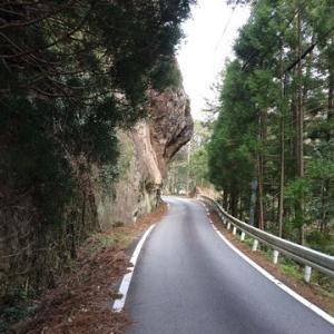 古座川の奇岩。