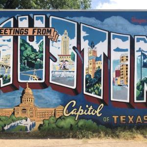 Austinで最も有名な壁画 ~ Greetings From Austin Mural ~