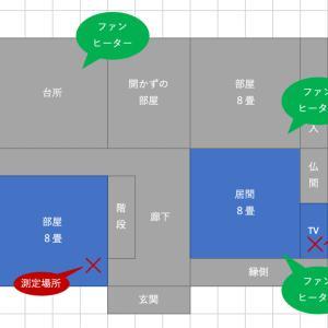 ミサワホームの断熱性能(3)仮住まい、間取りと測定場所