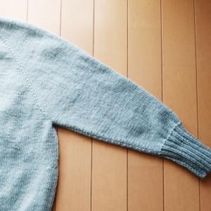 Caramel Sweater  ~進捗状況4~ 只今乾燥中!