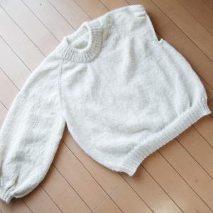 Holiday Sweater ~進捗状況3~ 右袖完成!左袖作成中!