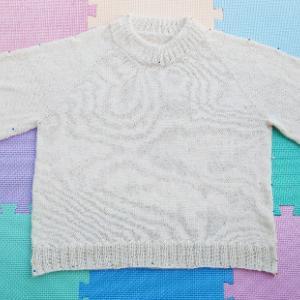 Holiday Sweater ~進捗状況4~ ブロッキングして乾燥中!