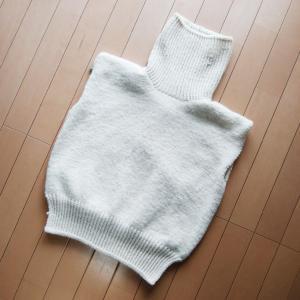 Wednesday Sweater ~進捗状況3~ えり完成!袖作成中!