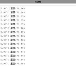 Arduino-prominiでの気象観測 途中