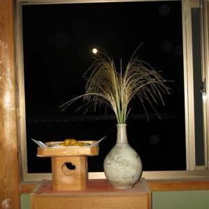 中秋の名月を見る