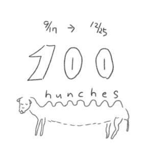 【100 hunches】100日アウトプットでクリスマス