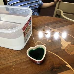熱湯と水のアクティビティ、分解遊び