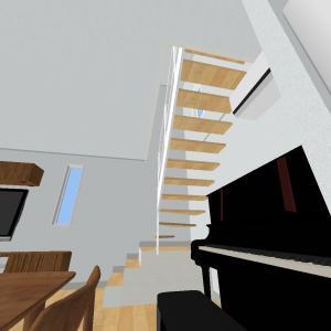 階段へのこだわり⑤(2階から3階へ)