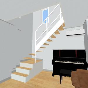 階段へのこだわり③(オープン階段について)