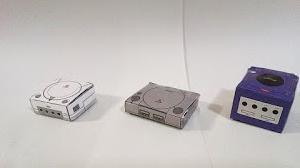 ゲーム機のペーパークラフト(ドリームキャスト、プレステ、ゲームキューブ)