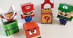 マリオのペーパークラフト数種(Cubeecraft)