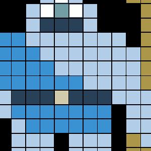 ギガンテス(ドラクエ)のアイロンビーズ図案