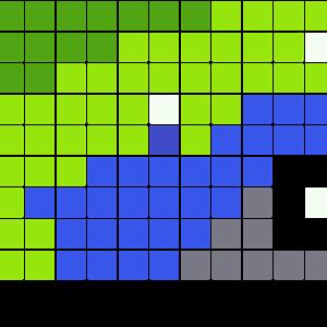 テレビのアイロンビーズ図案