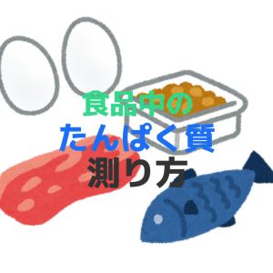 タンパク質の分析方法について