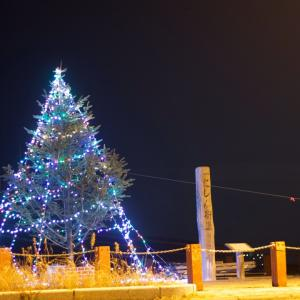 奥尻島のクリスマスツリー