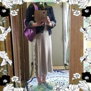 【コーディネート】【ファッション】~20年4月18日のコーディネート  プチプラ プチプラコーディネート 大人かわいい