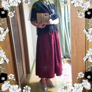 【着画】【ファッション】~21年9月24日のコーディネート  プチプラコーデ 今日のコーデ スカートコーデ