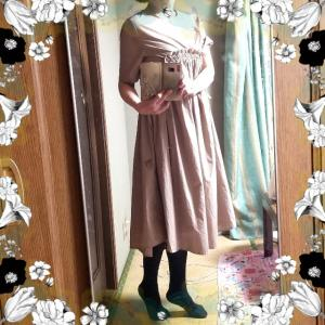 【着画】【コーディネート】ワンピースコーデ~21年10月9日   プチプラコーデ 今日のコーデ 大人かわいいコーデ